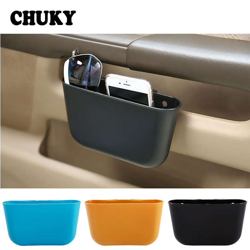CHUKY Car Hanging Trash Box Mini Multifunction Phone Holder Storage Bag For Honda Civic 2017 Skoda Octavia A7 A5 Mazda 3 6 CX-5