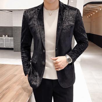Mens Blazer British Style Single Breasted Wedding Party Men Suit Jacket Hight Quality Europe Size Slim Blazer And Jackets Men