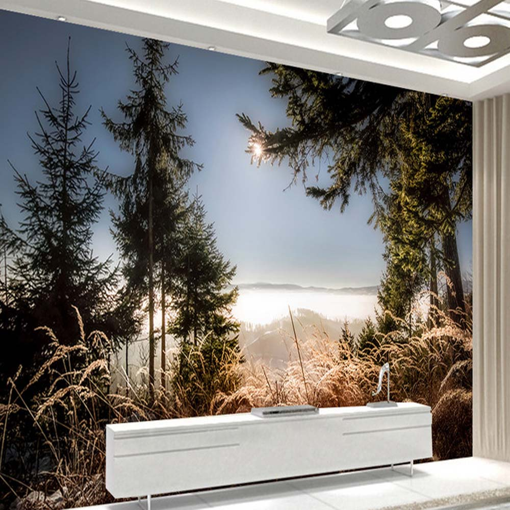 Modern Nature Landscape Wall Mural Photo Wallpapers for TV Background Cafe Home Decor Wall Paper Roll Papel De Parede 3D Sala