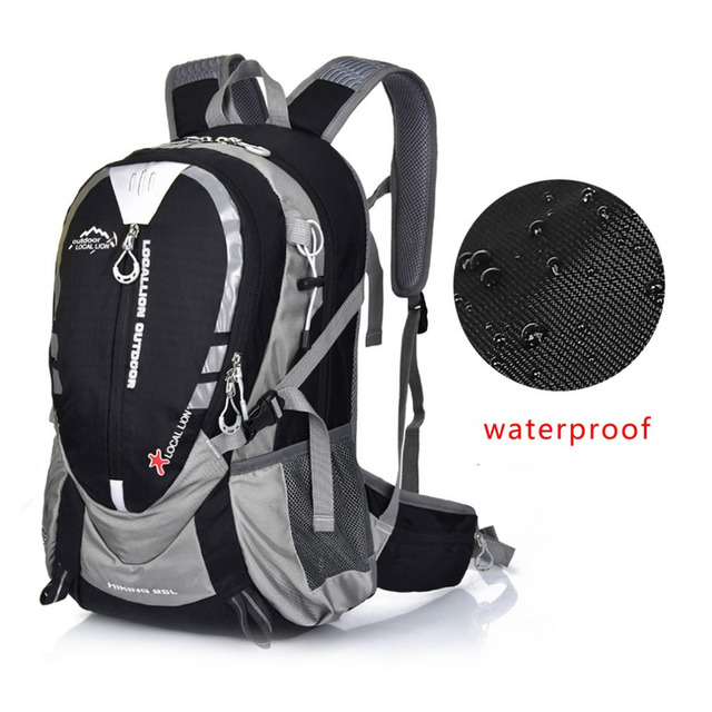 25l Outdoor Mountaineering Backpack Hiking Camping Waterproof Nylon Ergonomic Design Shoulder Bags With Chest Belt Waist