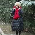 MM007 2016 novo inverno bordado arte RETRO gola grossa jaqueta de manga comprida