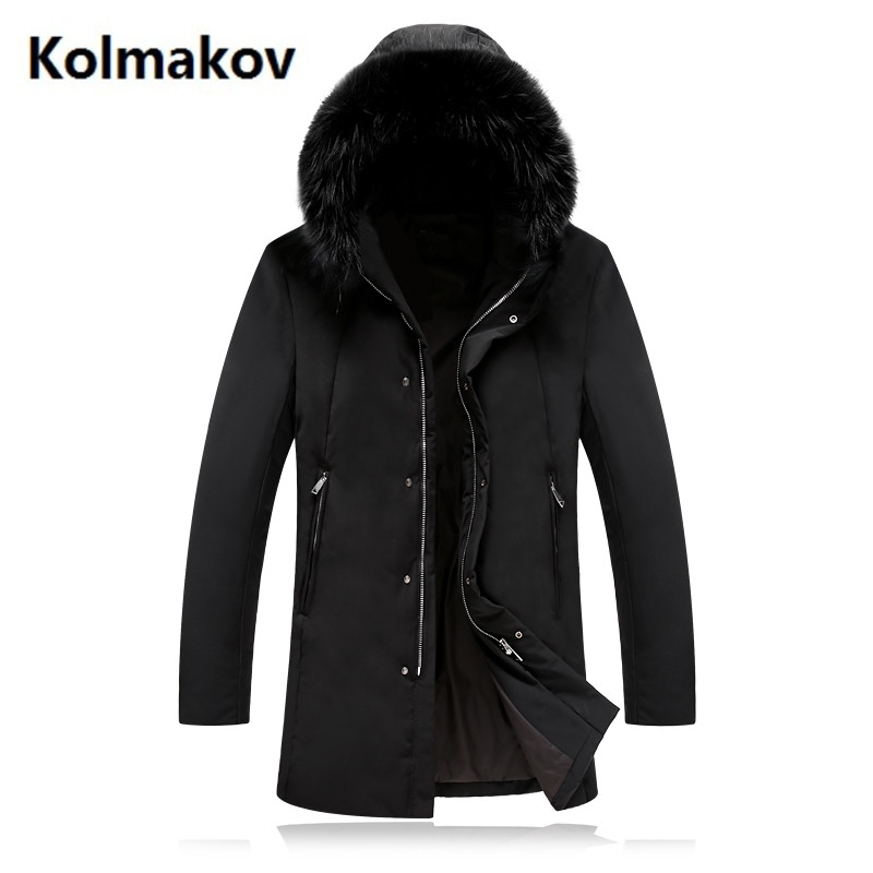 2017 winter 70% white duck down mens High quality Down jacket men Hooded winter jackets mens down coats full size M-4XL