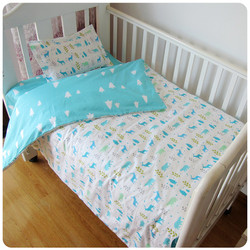 New Arrived Hot Ins crib bed linen 3pcs baby Bedding set include pillow case+bed sheet+duvet cover without filling
