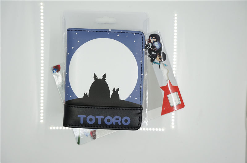Tonari no Totoro/My Neighbor Totoro kawaii anime cartoon peripherals wallet P009 pu short wallet purse with colorful printing of japanese anime tonari no totoro my neighbor totoro