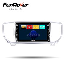 Funrover 8 core android 9.0 2din car dvd multimedia player for KIA sportage 2016 2017 KX5 radio gps navigation stereo WiFi 4GSIM