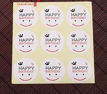 Home Garden Bakeware Cake Tools happy smiling face packaging box sealing paste gift box label stickers 450 pcs/lot