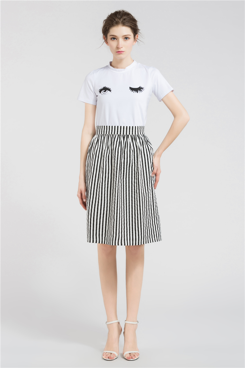 HTB1sOK5RXXXXXXoXpXXq6xXFXXXn - Long Skirts Women Loose Striped Skirt  JKP008