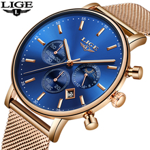 2018 LIGE Mens Watches Top Brand Luxury Men's Casual Waterproof Watch Men Ultra-thin Quartz Clock Male Watch relogio masculino top luxury brand julius men watches ultra thin full genuine leather clock waterproof casual sport watch men quartz watch relogio