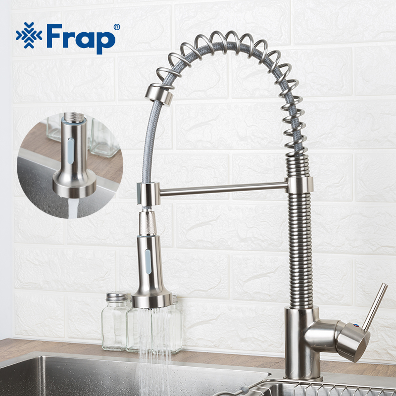 Frap Spray Kitchen Faucet Hot And Cold Faucets Single Handle Mixer Swivel Spray Tap Sink Faucet Kitchen Sink Faucet Y40091-1Frap Spray Kitchen Faucet Hot And Cold Faucets Single Handle Mixer Swivel Spray Tap Sink Faucet Kitchen Sink Faucet Y40091-1