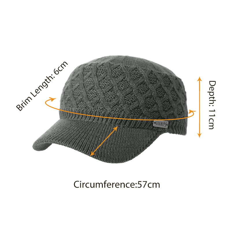 165b6a025b699c SIGGI Winter Autumn Warm Unisex Wool Knitted Military Hat For Men Women  Acrylic Brim Fleece Soft Chapeau Gorro Army Caps 69512-in Military Hats  from Apparel ...