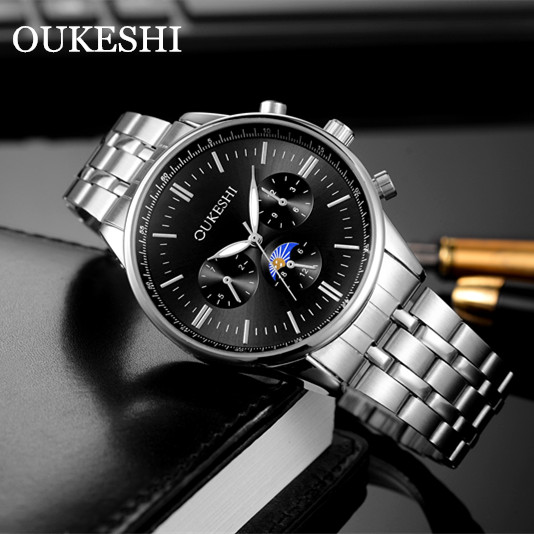 Mens Watches Top Brand Luxury Military Watch for Men Sport Clock Men Fashion Brand Relogio Masculino OUKESHI Steel Quartz Watch цена 2017