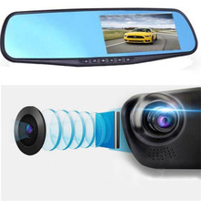 4.3 Inch Car DVR Rear-View Mirror Full HD 1080P Dual Lens Auto Super Wide Angle Night Vision DVR  Video Recorder