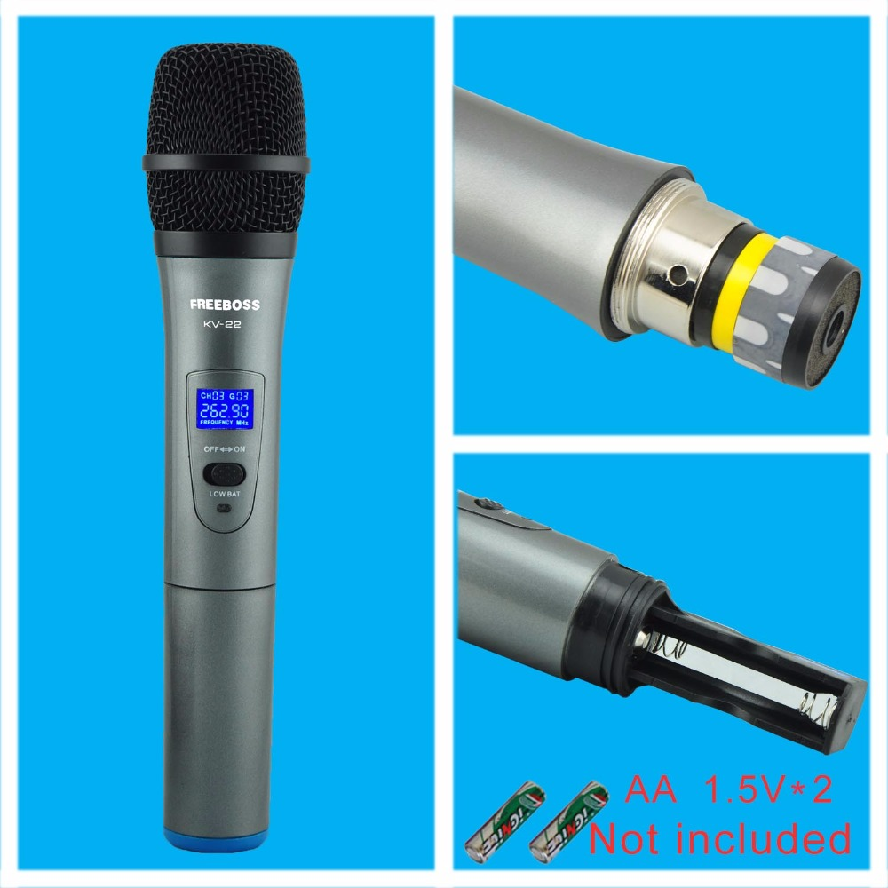 KV-22 VHF 2 Micrófono Inalámbrico de Mano Micrófono de Karaoke - Audio y video portátil - foto 4