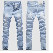 Хорошее качество, светильник, синие обтягивающие джинсы для мужчин, весна-лето, тонкие джинсы, мужские хлопковые эластичные джинсовые штаны, ковбойские брюки