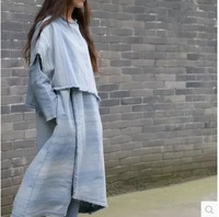 Новые продукты, перечисленные весной 2016, 100% оригинального дизайна высокого класса свободные большие размеры из хлопка женское платье