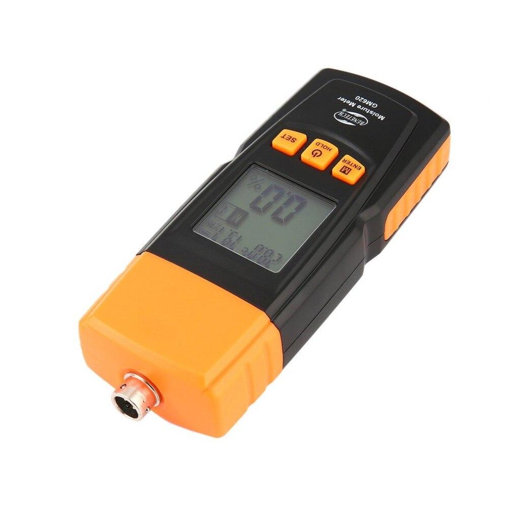 Benetech GM620 humidimètre bois numérique hygromètre testeur d'humidité contreplaqué matériaux en bois LCD rétro-éclairage détecteur d'humidité - 4