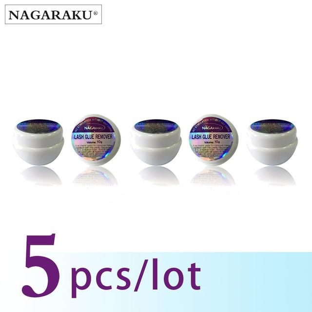 NAGARAKU メイクまつげエクステンションのり磁気まつげ 10 グラム 5 個セット高速安全まつげグルーリムーバー非 Iirritationglue stain removalglue shoesremove feathers