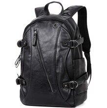 цены Genuine Leather Solid Laptop Backpack 14 Inch Men Laptop Notebook Bag Waterproof Women Zipper Leisure Travel Backpack Rucksack