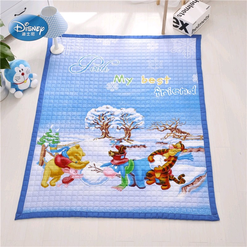 Disney Cartoon bleu Mickey Mouse Minnie Mouse Winnie princesse 1 an bébé filles garçons ramper jeu tapis tapis 100% coton