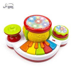SHUNHUI Baby Musical Instrument Hand Jazz Drum Piano Toys Kids Light Story Song Music Keyboard Learning Toys Gift for Children