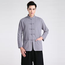 Shanghai Storyy Long Sleeve Tang suit Chinese Traditional clothing Kung Fu Shirt mandarin collar Chinese Shirt
