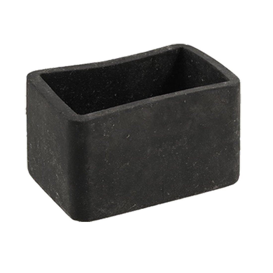 Masa Sandalye Bacak Siyah Kauçuk Dikdörtgen 25mm X 38mm Koruyucu Ayak