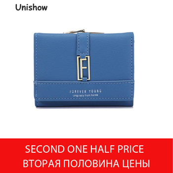 Unishow Small Wallet Women Brand Women Purse Leather Ladies Wallet Trifold Female Purse Card Holder Girl Coin Purse  Id Wallet unishow cute bow wallet women small female purse brand lock designer ladies wallet mini coin purse girl change bag card holders