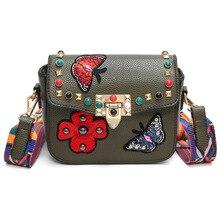 6e4892d92 Mulheres Pequena Bolsa de Ombro borboleta Bordado saco Do Mensageiro do  sexo feminino Flor Diomand Senhora Crossbody Saco De Lar.