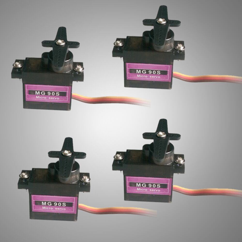 4pcs RC Micro Servo 9g Metal Gear For Arduino robot Align Trex 450 RC Helicopter Airplane 1pcs rc micro servo 9g sg90 servo for arduino aeromodelismo align trex 450 airplane helicopters accessories