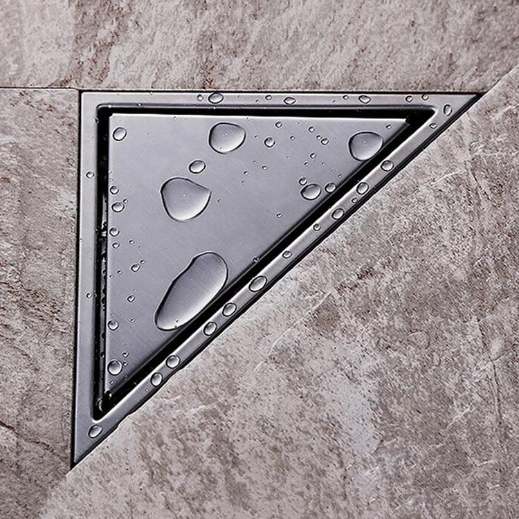 2017 New Hidden Type Triangle Tile Insert Floor Waste Grates Shower Drain 304 Stainless steel floor drain
