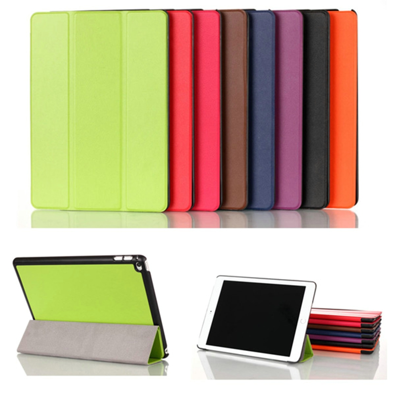 3 Folding Ultra Thin Slim Sleeve Magnetic Folio Stand Leather Case Smart Cover For Apple IPad
