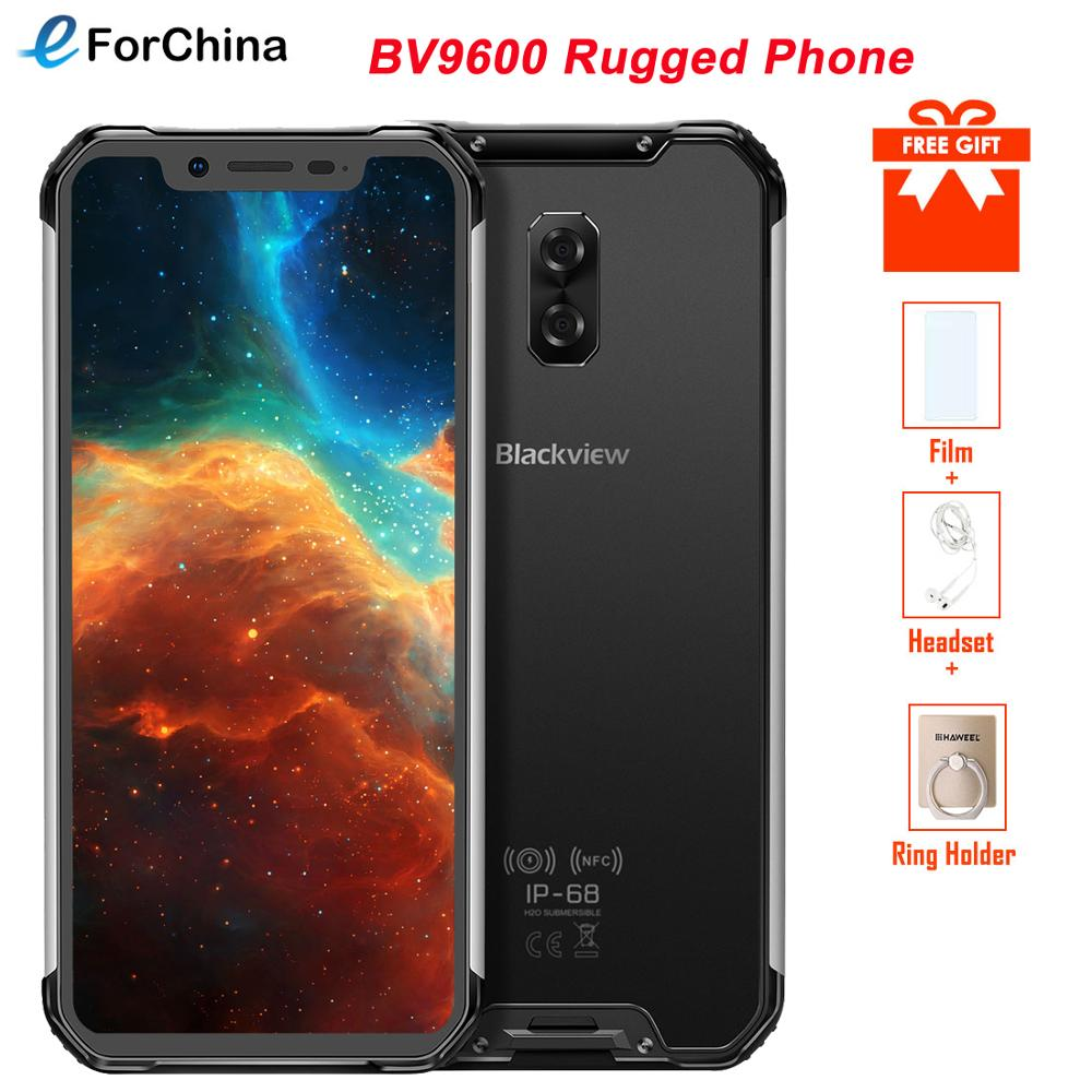 Blackview BV9600 Rugged IP68 Waterproof 4GB+64GB Mobile Phone Helio P70 Android 9.0 Smartphone 6.21