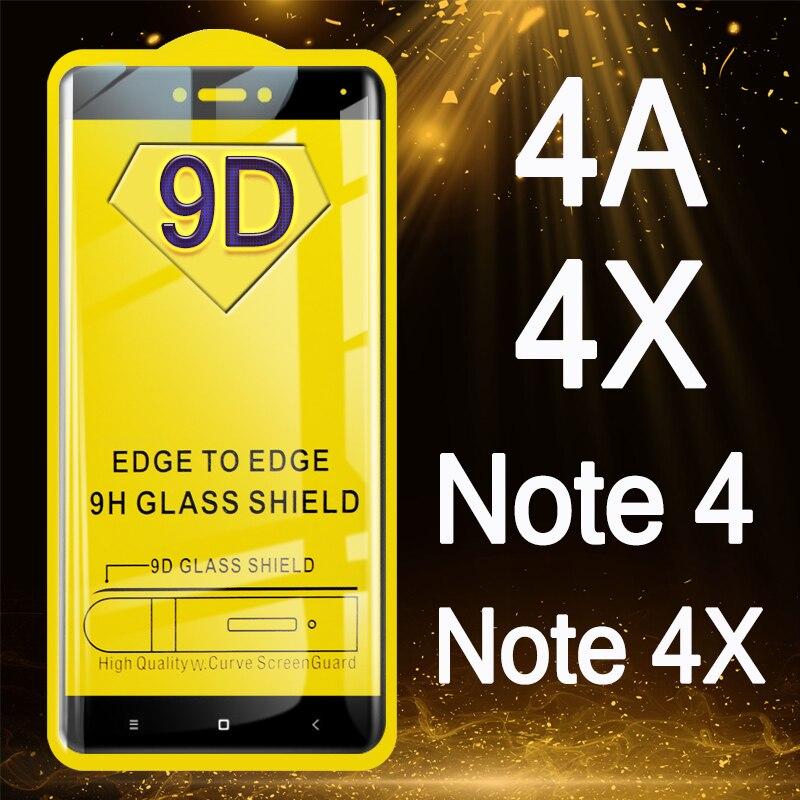 Verre pour Xiao mi rouge mi 4 X 4A Note 4 X protecteur d'écran 9D sur rouge mi 4 A Note4 Note4X étui Ksio mi mon A4 X4 protection Tremp Glas