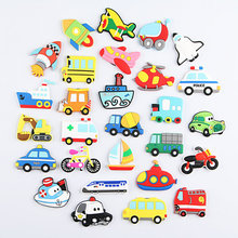 New 1pc Cartoon Car Silica Gel Fridge Magnets Whiteboard Sticker Refrigerator Kids Gift Funny Home Deco