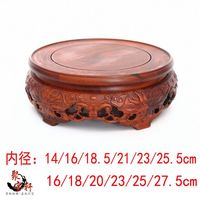 Jade Vase Rotating Mahogany Base Solid Wood Carving Handicraft Furnishing Articles Household Act The Role Ofing