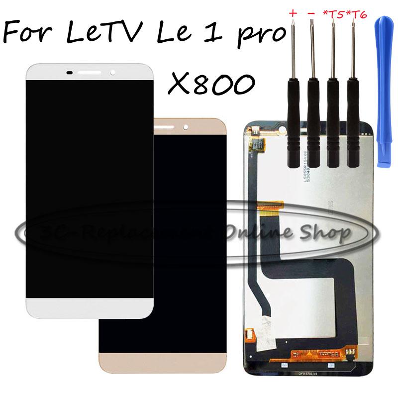 Prix pour Remplacer nouveau Pour LeTV Le 1 pro X800 LCD Écran Tactile Digitizer + LCD assemblée D'affichage De Réparation pièces + Livraison outils