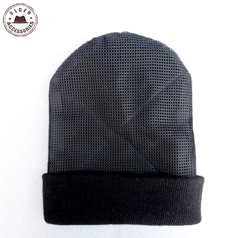 2016 New BBoy hip hop dancing Hat men's mesh hat beanies Warm Rotating beanies black hat for men