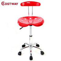 COSTWAY Modern Adjustable Swivel Chair Bar Stool Commercial Furniture Bar Tool HW48530