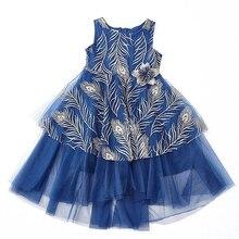 Летнее платье для маленьких девочек; коллекция года; кружевные платья принцессы; платье без рукавов с цветочным узором для девочек; одежда для малышей; вечерние и свадебные От 2 до 8 лет