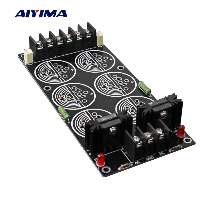 цена на Aiyima 120A Rectifier Filter Power Supply Board Solder Schottky 35MM 6 Capacitances Rectification Amplifier DIY