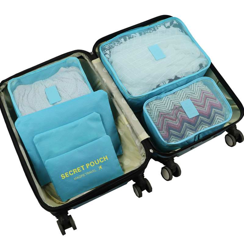Travel 6 Pcs Of Waterproof Padded Clothing Finishing Travel Storage Bag Clothes Shoe Cabinet Wardrobe Large Suitcase Shoe Bag(China)
