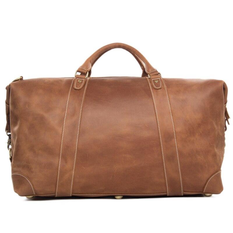 viagem duffle bolsa grande capacidade Leather Travel Estilo : Vintage
