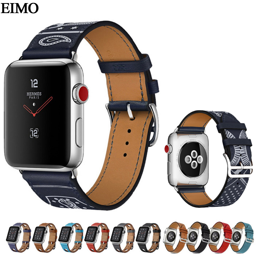 Strap for Apple Watch band 42mm/38mm Leather Strap Metal Buckle Bracelet Watchband for Apple Watch iwatch 3/2/1 strap black belt