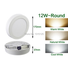 2014 Sale Dimmable Round Led Panel Light 12w Surface Wall Ceiling Downlight Wholesale Mount Bulb 8inch High Lumens free Shipping