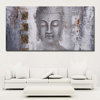 Large Size Abstract Art Buddha Painting