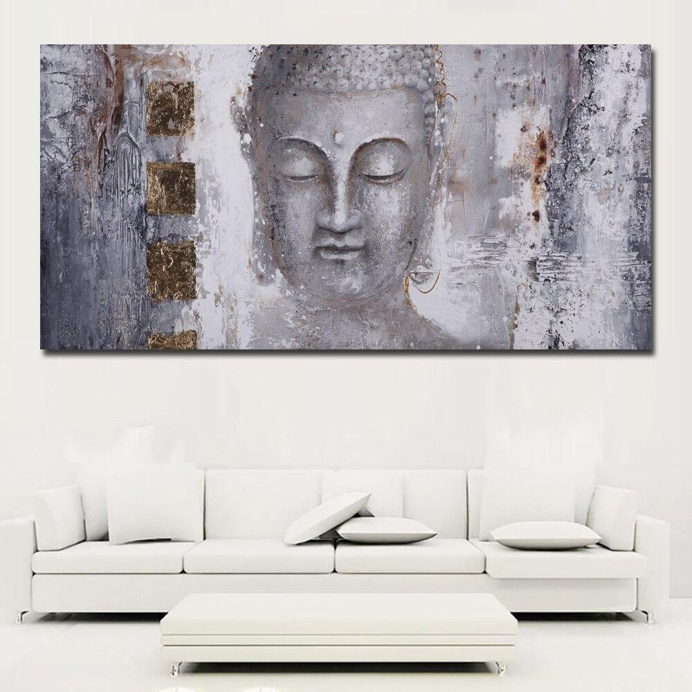 Große Größe Poster Leinwand Kunst Abstrakte Kunst Buddha Malerei ...
