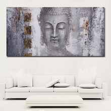 Large Size Poster Canvas Art Abstract Art Buddha Painting Wall Art For Living Room Home Decor Modern Art print Painting No frame(China)