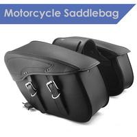 2X Motorcycle Saddlebag For Harley Sportster XL 883 1200 XL883 XL1200 for Indian Scout leather motorcycle Luggage Bag PU Leather