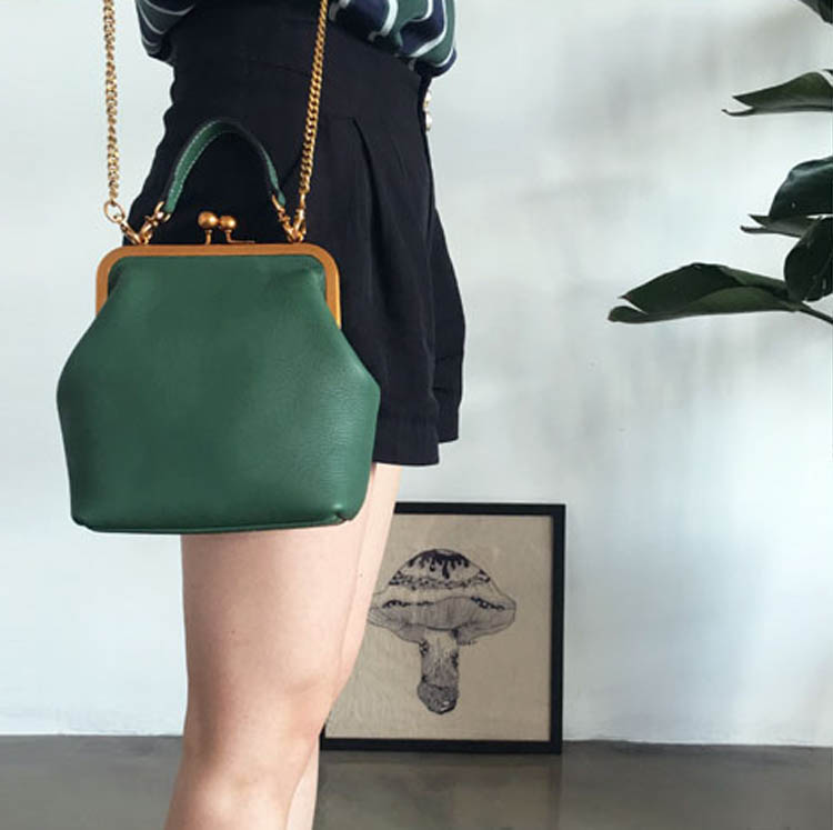 2019 new vintage bag women's handbags leather PU chain shoulder crossbody bags (1)