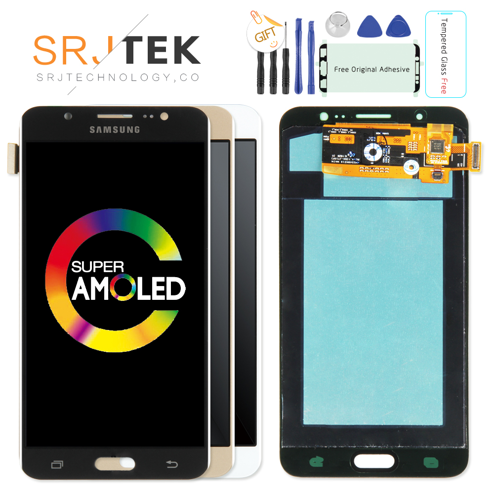Original 5,5 ''Super Amoled LCD Für Samsung Galaxy J7 2016 J710 J710F J710M J710G LCD Display Touchscreen Digitizer ersatz
